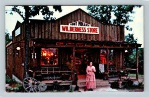Branson MO, Aunt Mollie, Wilderness Store, Chrome Missouri Postcard