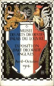 1914 British Arts Crafts Exposition D'Art Decoratif Anglais Poster Art Deco myn