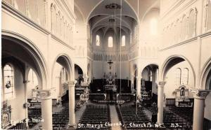 Church Point Nova Scotia Canada St Marys Church Real Photo Antique Postcard J544