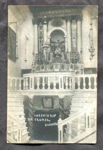 dc68 - IRELAND Karmel c1906-10 Interion of Church Real Photo Postcard
