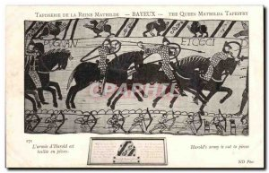 Old Postcard Queen Mathilde Bayeux Tapestry L & # 39armee d & # 39Harold tail...