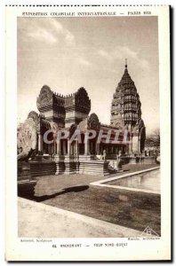 Old Postcard Paris International Colonial Exposition Paris 1931 Temple D Angk...