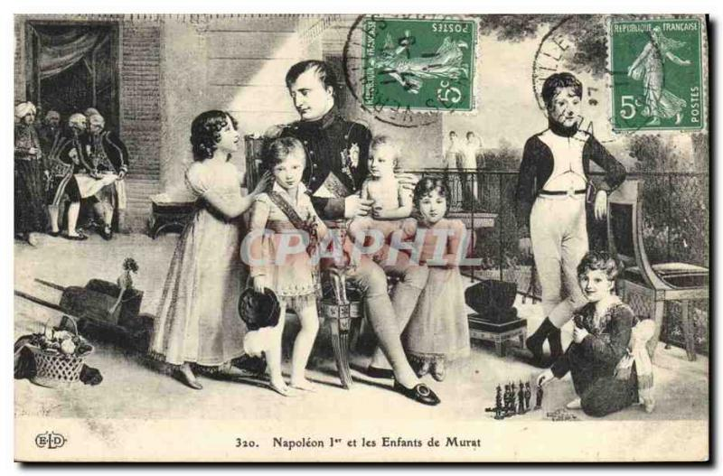 VINTAGE POSTCARD Napoleon History 1st and children of Murat