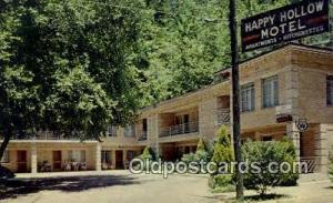 Happy Hollow Motel, Hot Springs National Park, AR, USA Motel Hotel Postcard P...
