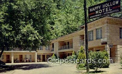 Happy Hollow Motel, Hot Springs National Park, AR, USA Motel Hotel Postcard P...