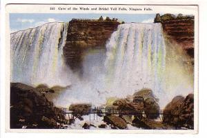 Cave of the Winds and Bridal Falls, Foot Bridge, Niagara Falls, New York,