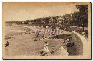 Old Postcard Fouras Boulevard from Ocean both Chenes