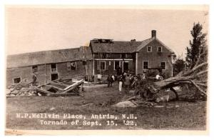New Hampshire  Antrim , M.P. McIlvin Homestead after Tornado 1922