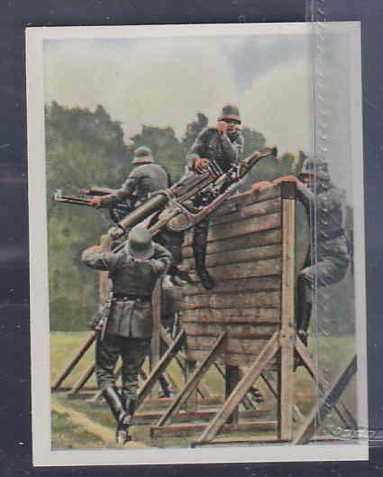 GERMANY TOBACCO CARD WWI 6x5 cms. MILITAR TRAINING AAD5157