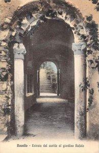 13666 Italy  Ravello  Entrata dal cortile al giardino Rufolo