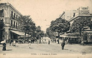 Tunisia Tunis L'Avenue de France 03.75