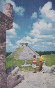 Mexico Mayan Pyramids Of Chichen Itza From Pan American World Airways