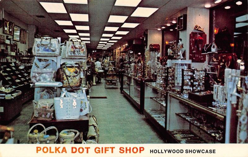 Hollywood Florida~Polka Dot Gift Shop~Holiday Inn Arcade~Gawdy Purses~1960s PC