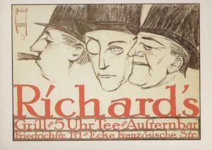 Ernst Deutsch Richards 1913 Pre WW1 Berlin Planet Verlag Poster German Postcard