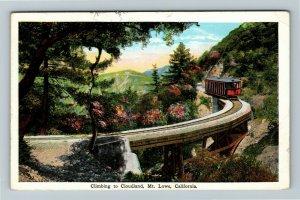 Mt Lowe CA-California, Climbing To Cloudland Vintage c1930 Postcard