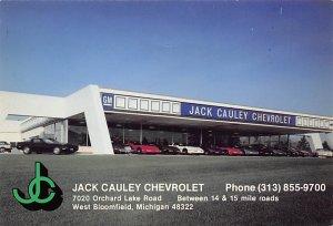 Race Car Post Card Jack Cauley Chevrolet West Bloomfield, Michigan, USA Unused