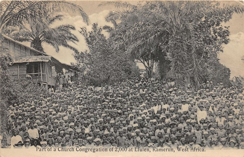 G58/ West Africa Postcard Church Congregation Kamerun Efulen