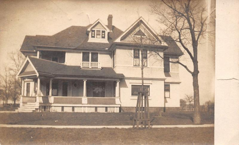 Weston Michigan~Nice Victorian Home~Mrs HPT Says Packing Up to Move~1908 RPPC