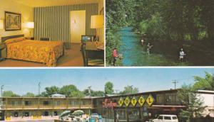 The Lodge Motel , Entrance to Hellgate Canyon , Montana , 40-60s