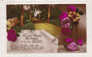 Post Card Greetings – Birthday A Very Happy Birthday to My Dear Sister