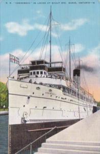Canada Ontario Sault Ste Marie S S Assiniboia In Locks