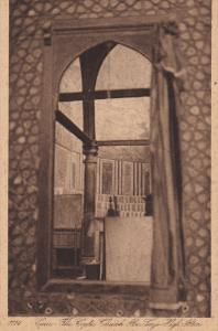 CAIRO, Egypt, 1900-1910's; The Coptic Church Abu Serye High Altar