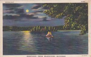 Michigan Greetings From Gladstone Curteich