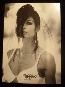 Vintage Late 90's Collectible Sexy Mossimo Fashion Ad Postcard In BRA & VEIL