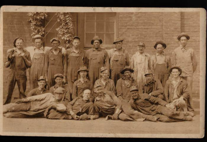 RPPC Coal Miners Large Group Photo Mining Defender African American Postcard B06