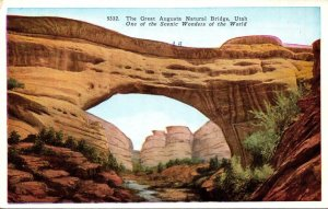Utah The Great Augusta Natural Bridge 1930