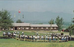 Girl Guides Camp , TSOONA , B.C. , Canada , 50-60s ; Horse Shoe Formation #1