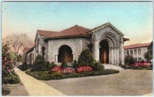 STANFORD UNIVERSITY, California CA  Handcolored ART GALLERY Albertype  Postcard