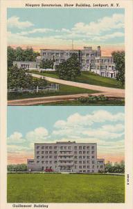 New York Lockport Niagara Sanitariun Shaw and Guillemont Building Hospital Cu...