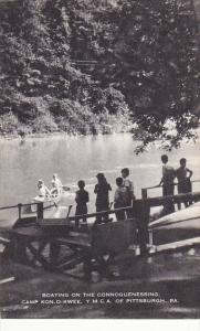 Boating On The Connoquenessing Cam Kon-O-Kwee YMCA Of Pittsburg Pennsylvania ...