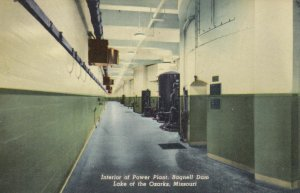 LAKE OF THE OZARKS, Missouri, 1930-40s; Interior of Power Plant, Bagnell Dam