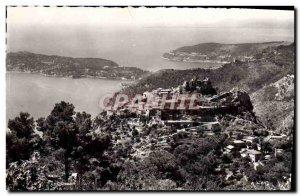 Old Postcard Eze The Nest & # 39Aigle Vue Generale Cap Ferrat
