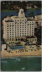 Miami Beach, Florida Postcard THE ROBERT RICHTER HOTEL Collins Ave Aerial View