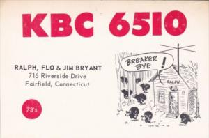 Amateur Radio KBC 6510 Ralph Flo & Jim Bryant Fairfield Connecticut