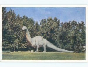 Unused Pre-1980 BRONTOSAURUS DINOSAUR AT NATURAL HISTORY PARK Calgary AB c7510
