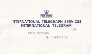 Blackpool 1974 Telegram & Post Office Envelope