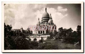 Old Postcard Paris Strolling Sacre Coeur Basilica