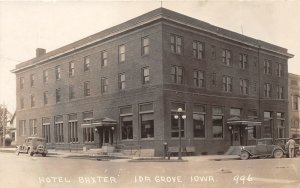 F99/ Ida Grove Iowa RPPC Postcard c1920s Hotel Baxter Building