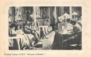LP64  Ship R.M.S. Empress Britain Vintage Postcard 1st Class Lounge