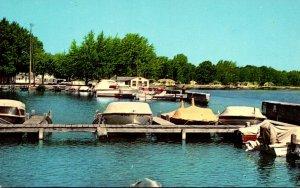 Ohio Indian Lake White Cottage Landing