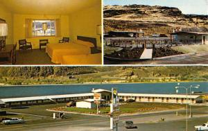 Biggs Junction Oregon Dintys Motor Inn Multiview Vintage Postcard K57468