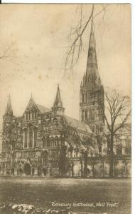 Salisbury Cathedral, West Front, early 1900s unused Postcard