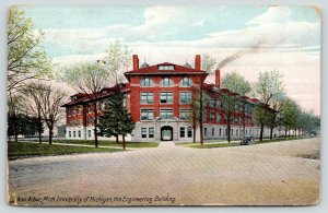 Ann Arbor Michigan~University of Michigan~Engineering Building~Front View~1912
