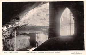 Spain Old Vintage Antique Post Card Manacor, Cuevas del Drach Mallorca Unused