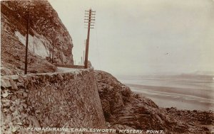 RPPC Postcard Penmaenmawr Charlesworth Mystery Point Wales UK Conwy County