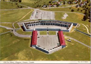Old Fort Henry Kingston Ontario ON Aerial View Unused Vintage Postcard D43